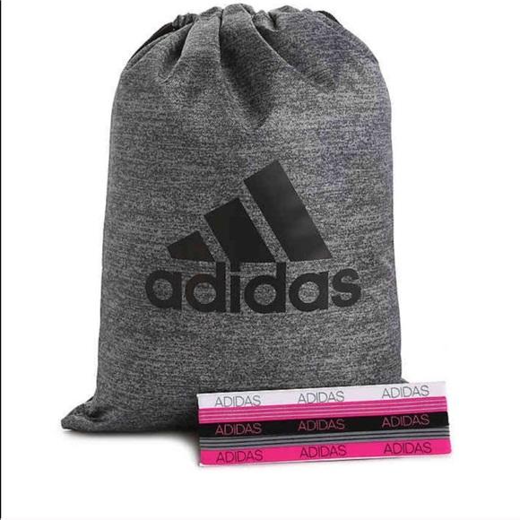 a037e382e059 NWT Adidas Drawstring Bag with Headband Set NWT